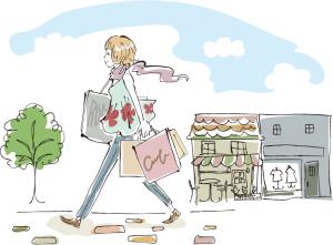 買い物女性ライスト